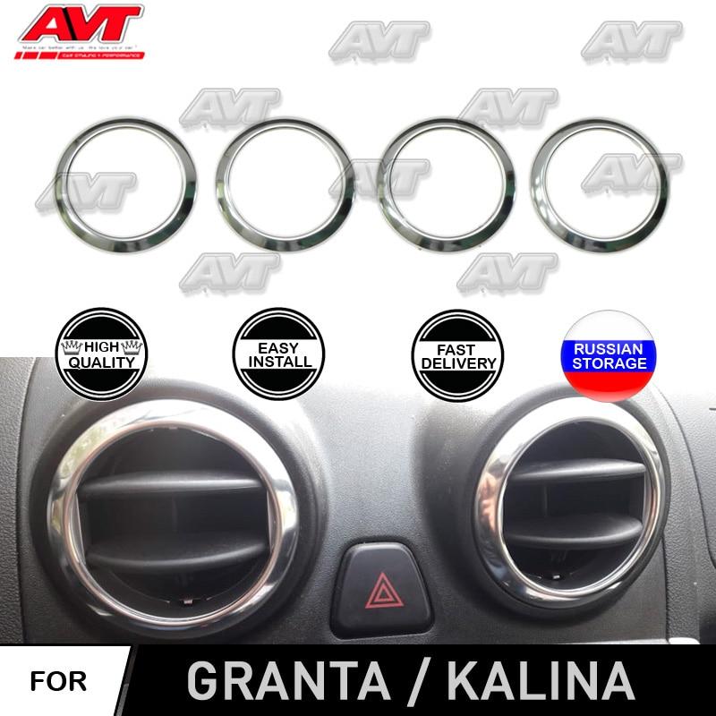 Para Lada Kalina Granta 2012-2018 | 2004-2018 chrome cap em defletores de ar de design de interiores de aço inoxidável decoração do carro styling