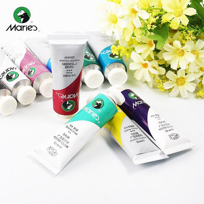 Maries Advertising Pigment 32ml Gouache Paint Acrylic Pigment Single Sale Art Supplies