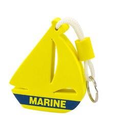 Keychain float segelboot gelb Marine