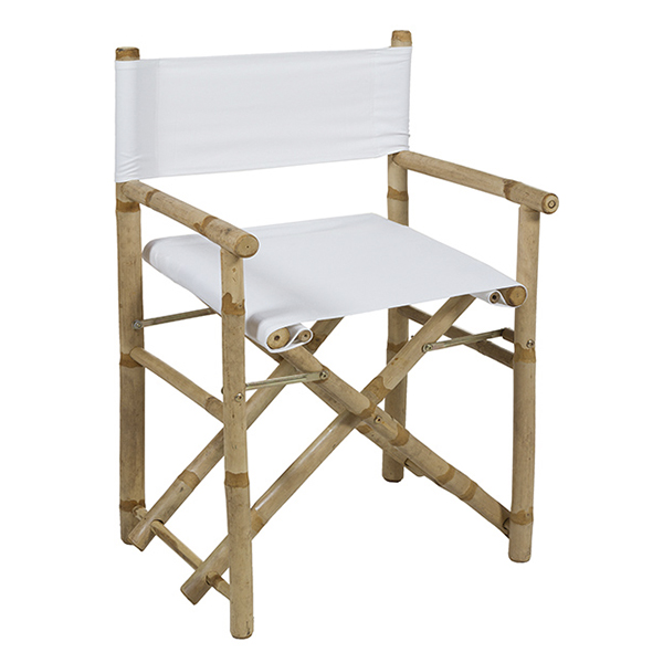 Chair (89 X 58 X 45 Cm) Bamboo White