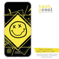 FunnyTech®Silicone stand case for IPhone 7 Plus/7 Plus listening Nirvana Group vers.1 Black
