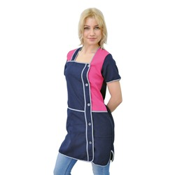 Женский рабочий халат для продавца IVUNIFORMA Ваниль тёмно-синий