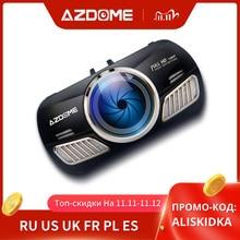 AZDOME M11 대쉬 캠 3 인치 2.5D IPS 스크린 가득 차있는 HD1080P 차 사진기 DVR 이중 렌즈 야간 시계 24H 주차 감시자 Dashcam GPS