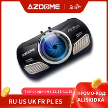 AZDOME M11 kamera na deskę rozdzielczą 3 cal 2.5D ekran IPS pełna HD1080P kamera samochodowa DVR podwójny obiektyw Night Vision 24H Monitor do parkowania Dashcam GPS