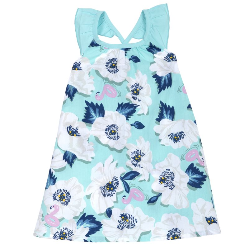 Фото - Dress Chicco, size 098, print flowers (blue and white) pants chicco size 098 color blue