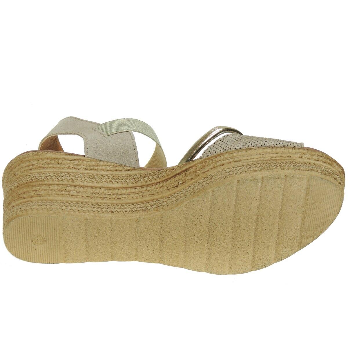 Chemisier 131 cuir sandale robe plante Gel plateforme 3Cm cale 7Cm elastique femme - 5