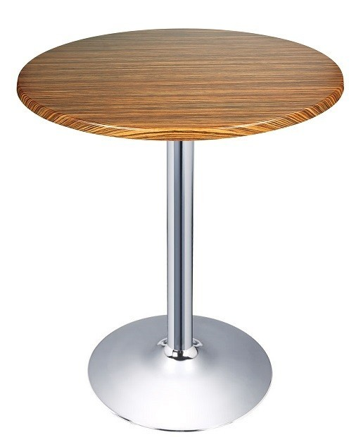 Table CRISS, Chrome Topalit-Zebrawood-60 Cms *