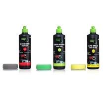 GUBOSA full car polishing KIT + 80 MM sponges (high cut, fast cut and shine) scratch repair kit