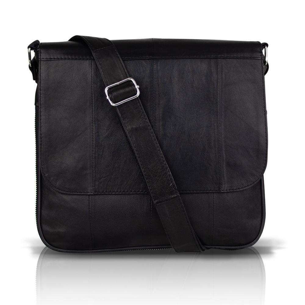 Bavyera Crossman en cuir véritable unisexe sac à bandoulière sac de messager