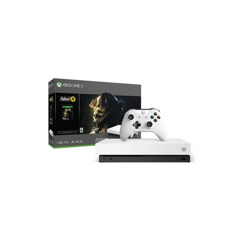 Xbox One X + Fallout 76 Sony 53518 1 TB 4K HDR White