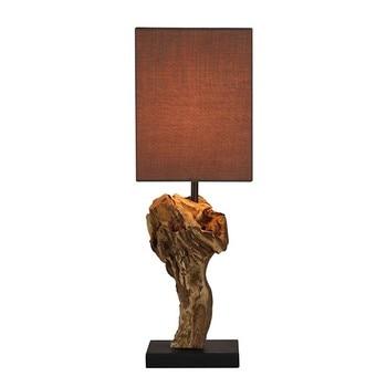 Schreibtisch Lampe Acacia (15X15x50 Cm)