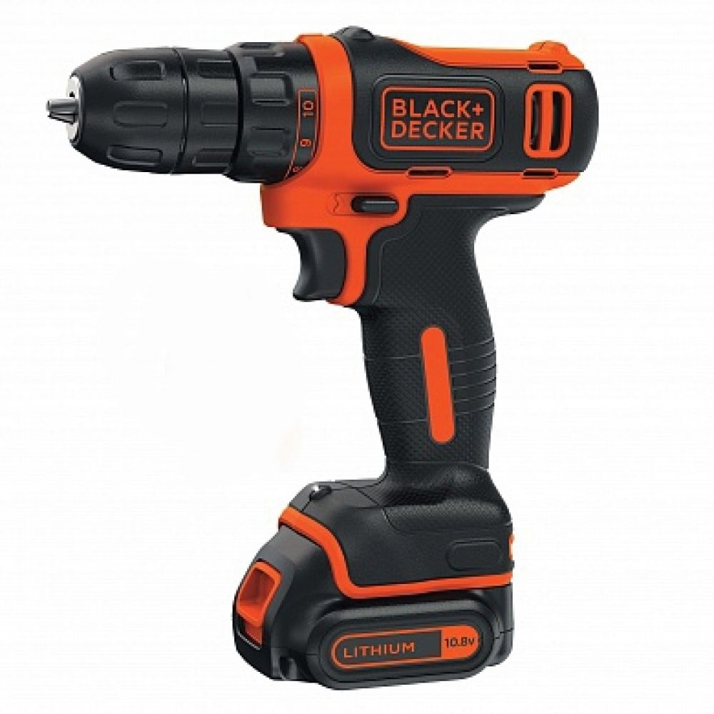 Drill-screwdriver rechargeable BLACK + DECKER BDCDD12B (Li-ion battery 10,8В 1,5Ач, torque up to 26 Nm)