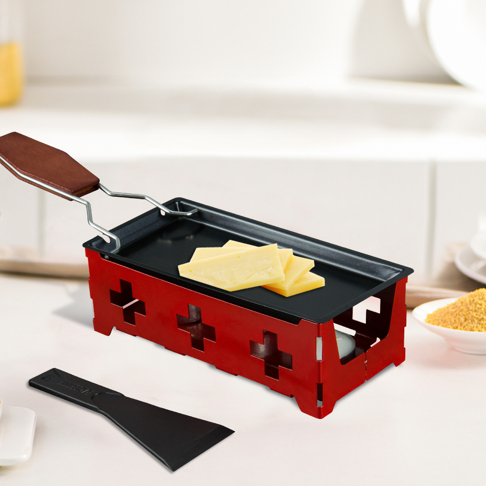 2020 New Mini Swiss Cheese Roasters Baking Set Tray Home Oven Non Stick Pan Dish Home Baking Oven BBQ Tools Red And Black Color(China)