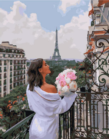 Painting By Numbers PK 39002 Tenderness Of The Paris Morning 40*50