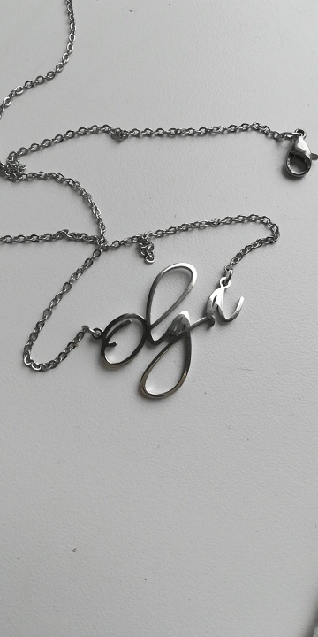 Personalized Classic Script Name Necklace photo review
