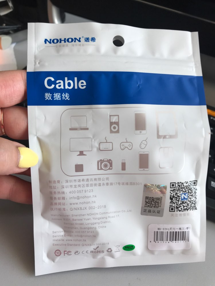 NOHON 3 IN 1 8Pin Type C Micro Nylon USB Cable For iPhone 8 X 7 6 6S Plus iOS 10 9 8 Samsung Nokia USB Fast Charging Cables Cord|Mobile Phone Cables|   - AliExpress