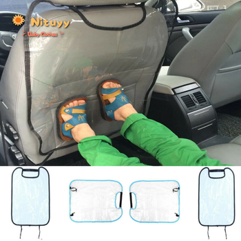 Car Seat Back Cover Protector Kick Clean Mat Pad Anti Stepped Dirty for Kids /YI car seat kick mat for lincoln mkz leather seat back protector proof anti dirty interior car accessories protection