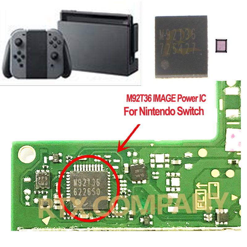 For Nintend Switch NS Image Power IC M92T36 Battery Charging IC BQ24193 Audio Video Control IC PI3USB HDMI IC Chip M92T17 P13USB