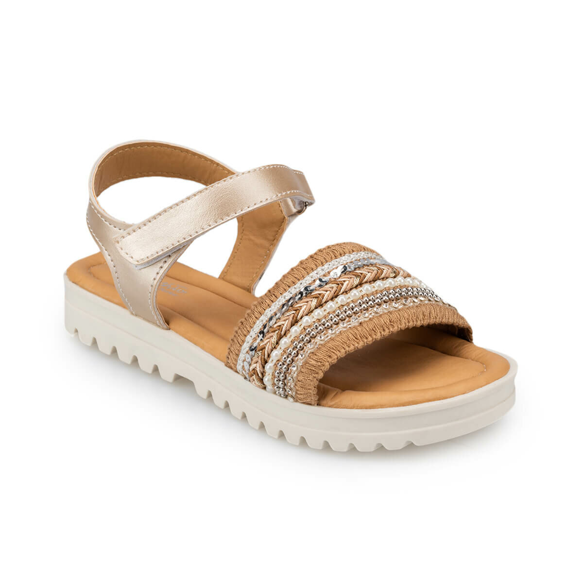 FLO 91.511318.F Gold Female Child Sandals Polaris