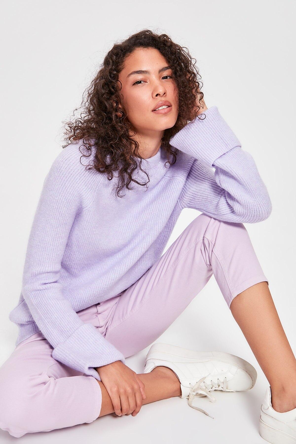 Trendyol Lilac Handle Kıvırmalı Sweater TWOAW20KZ0185