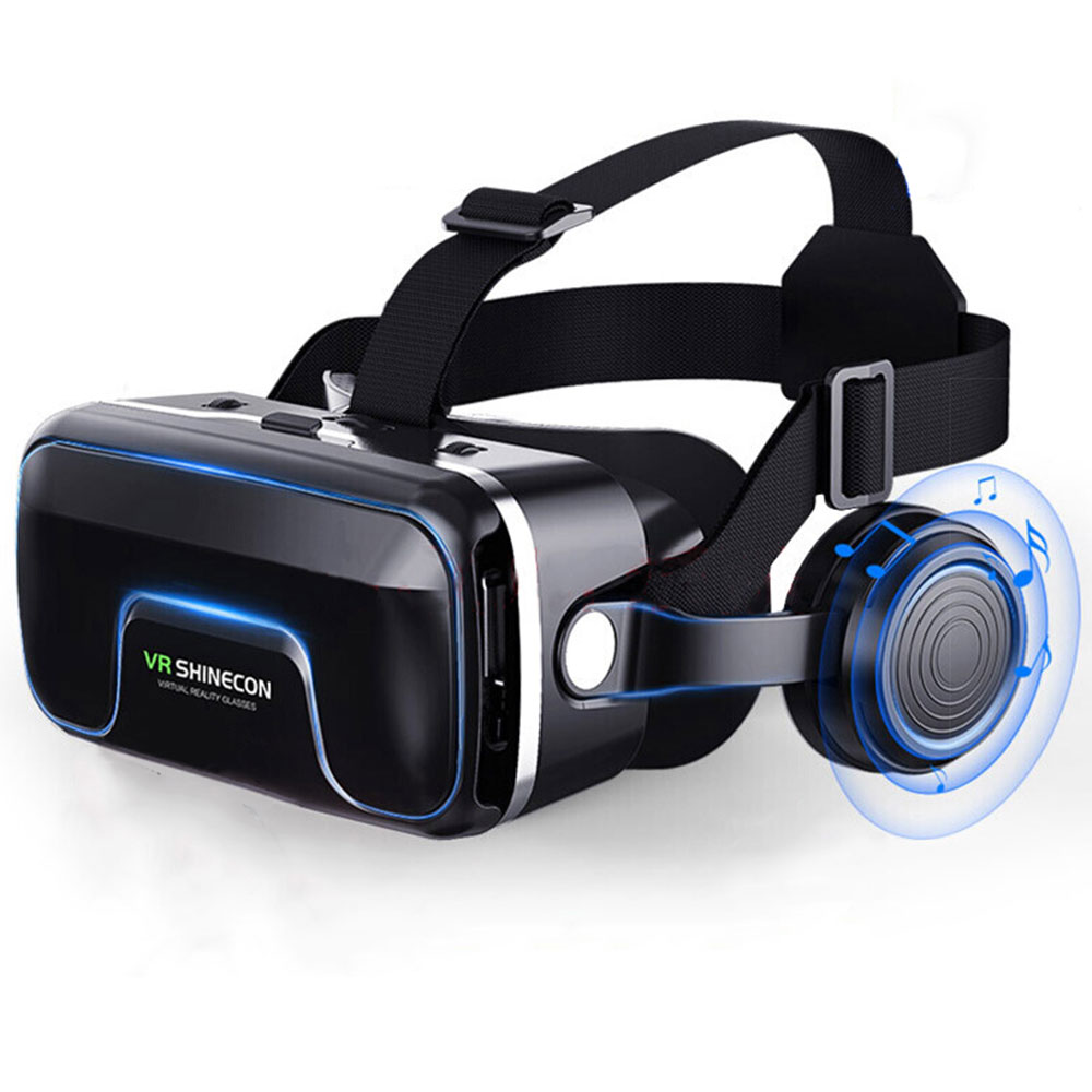 Hot-selling VR Virtual Reality Casque 3D Goggles Headset Helmet Box Stereo Game Cinema For 4.7-6.0 inches iPhone Android Phones