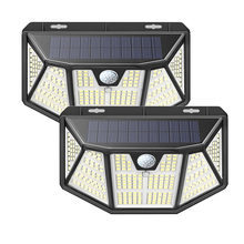 310 LED Solar Motion Sensor Lights Outdoor, Security Lights Wireless Solar Wall Lights with 3 Modes for Garden Patio Yard Deck