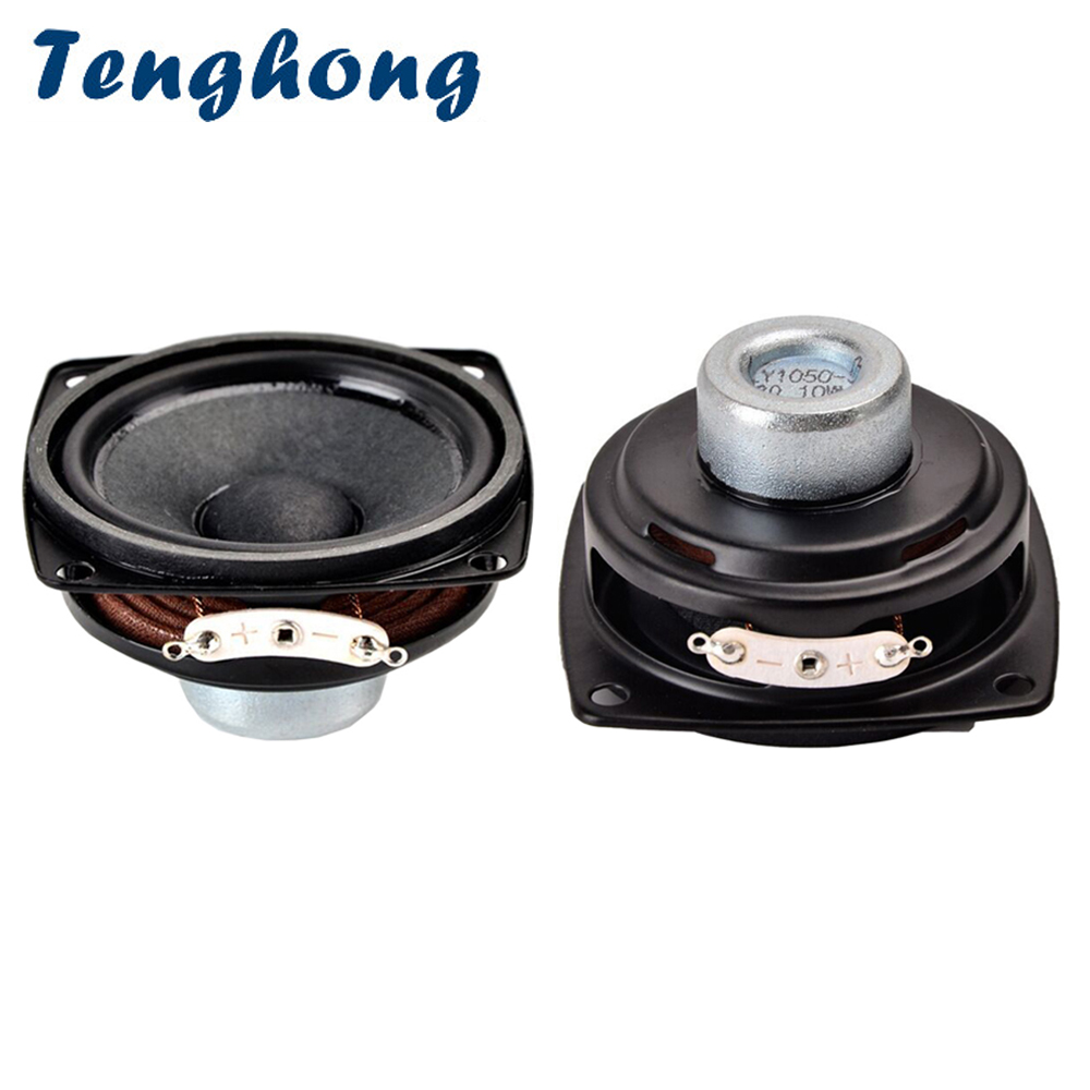"2pcs 3/"" 8ohm 8Ω 10W Full Range Audio Speaker Transparent Waterproof Loudspeaker"