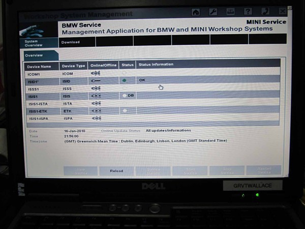 icom software in d630 laptop 3