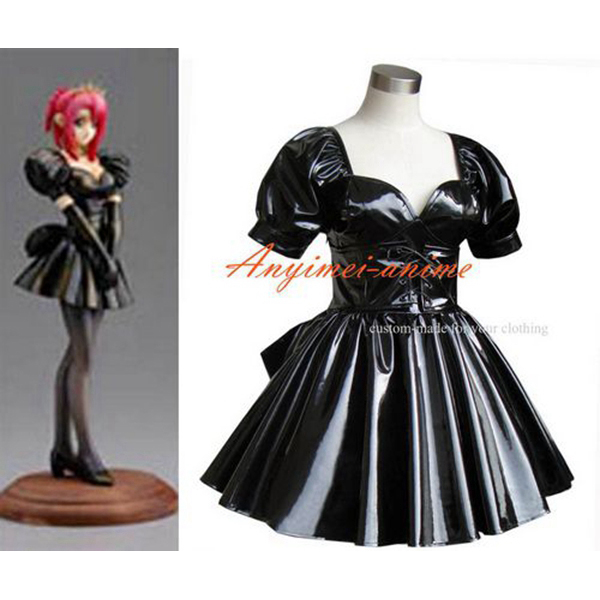 aeProduct.  sc 1 st  AliExpress.com & Sissy Maid Dress Gothic Lolita Punk Black Pvc Cosplay Costume Tailor ...