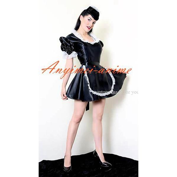 Sexy sissy maid dress satin dress maid uniform cosplay costume sexy sissy maid dress satin dress maid uniform cosplay costume tailor made solutioingenieria Gallery