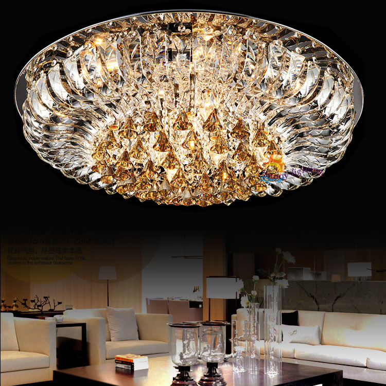 Remote control diamond crystal lamp modern led indoor ceiling ...