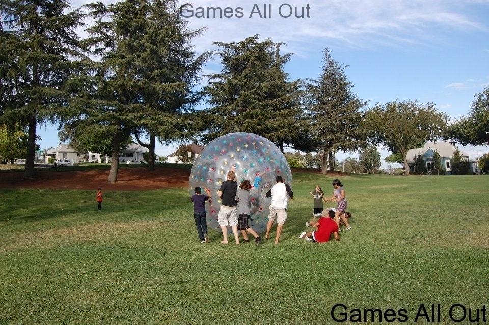 Human Hamster Ball Bumping 05
