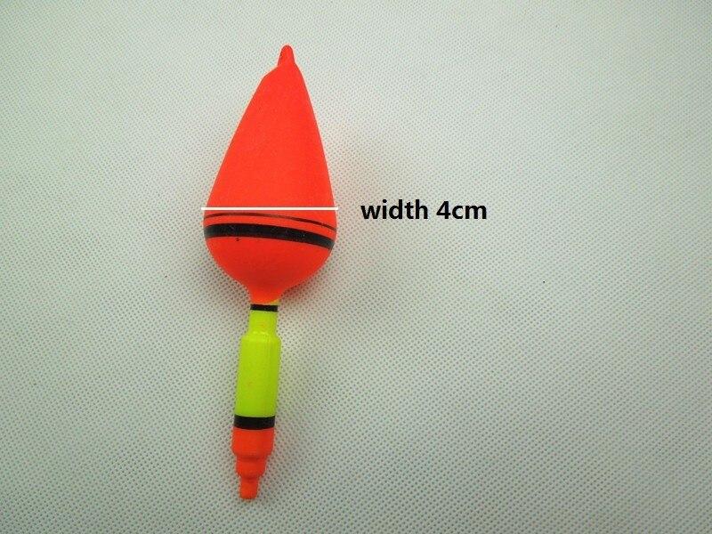5 шт./лот морское рыболовство на волнах плавает пластиковые литья поплавки дрейф, красный цвет, длина 14 см, вес 6,75 г