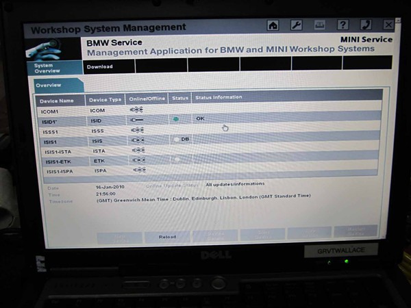 icom software in d630 laptop 2