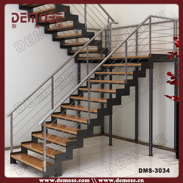 Metal Stair Stringers Folding Staircase Stair Cart Stairs | Used Steel Stairs For Sale | Hinged | Portable | U Shaped | Garage | 8 Foot