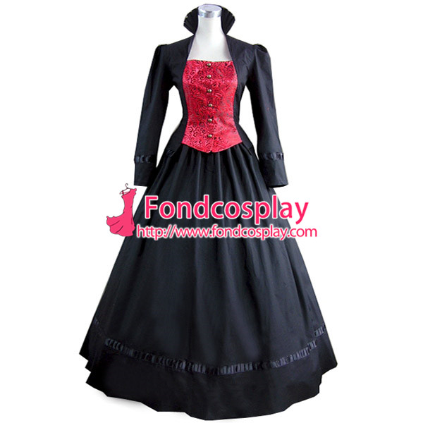 Gothic Lolita Punk Medieval Gown Violet Ball Long Evening Dress Coat ...