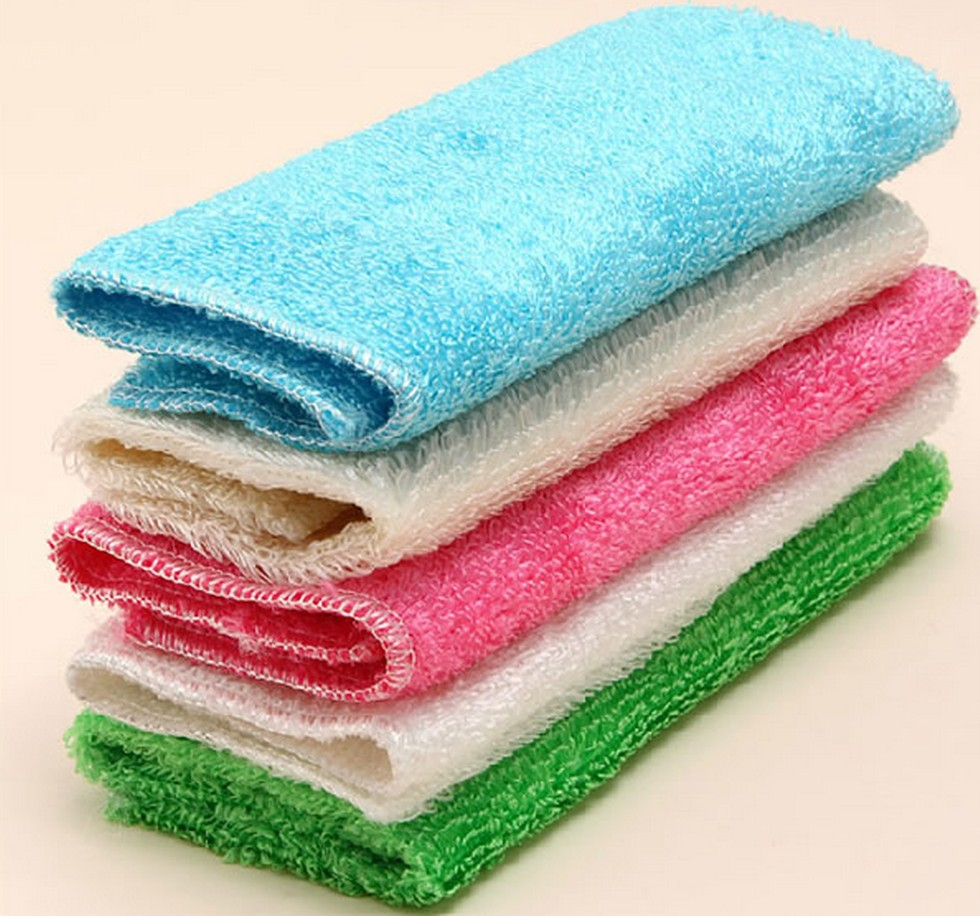 Car Auto Bamboo Microfiber Kitchen Dish Cleaning Clean Towel Wash ...