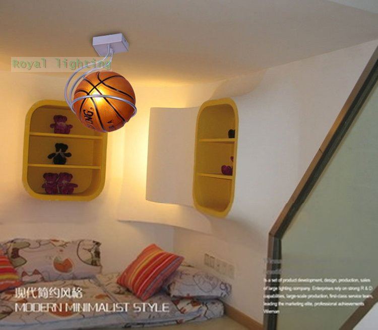 Kids Ceiling Lamp Basketball Simple Bar Hanging Light Children Room Bedroom Sport Lighting Fixtures Pendant In Lights From