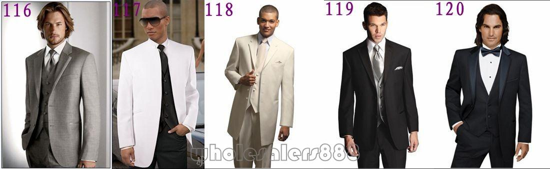 jacket+pants+tie High Quality Mens Suits Groom Tuxedos Groomsmen Wedding Party Dinner Best Man Suits K:2700 In Many Styles