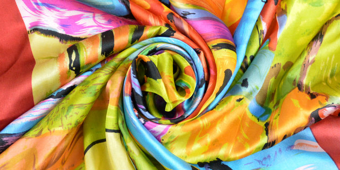 Painted Mulberry Silk Scarf | Lightweight Scarves | Upto 60% Off Now