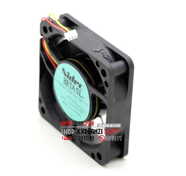 Wholesale New NIDEC D06R-12TH 35B 6015 60mm 6cm DC 12V 0.16A durable ball bearing computer pc cpu fan