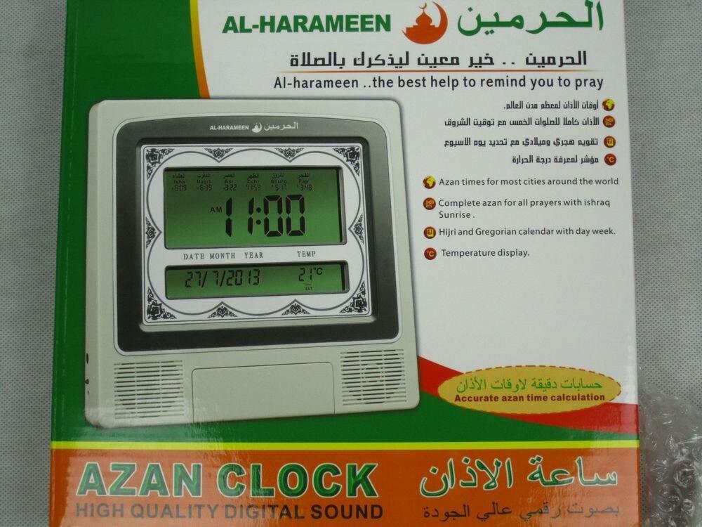 AC005  High quality LCD muslim azan digital prayer clock