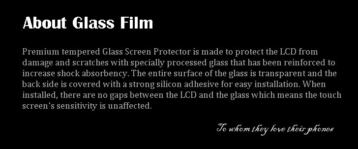 LY about glass film all