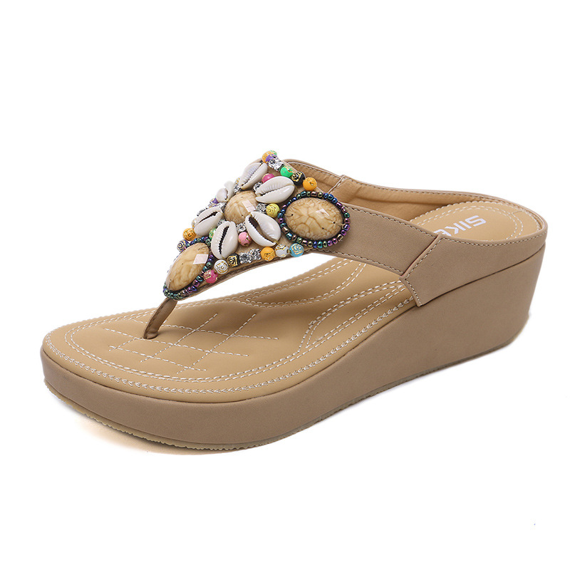 Couple Flip Flops Paint Art Gilr Print Chic Sandals Slipper Rubber Non-Slip Beach Thong Slippers