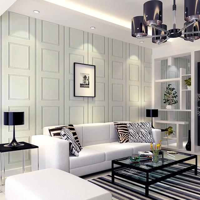 Papel pintado a rayas de yeso europeo papel madera blanco conciso moderno  comedor pared fondo
