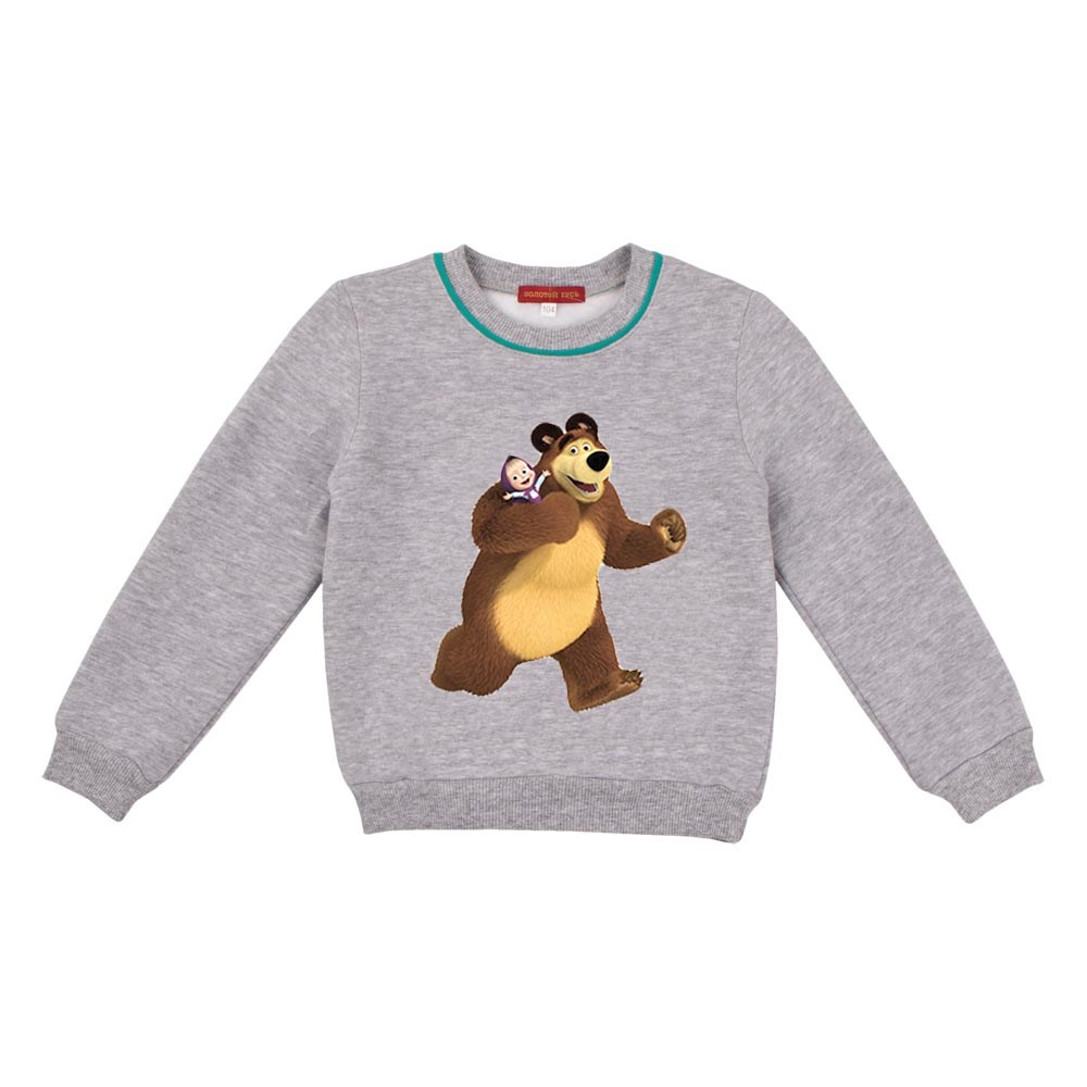 Masha and Bear Shirt-sweatshirt gray melange jumpsuit gray melange
