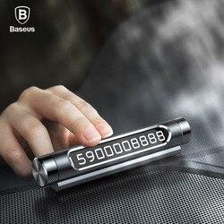 Baseus 카 임시 주차 Card 폰 Holder Luminous 폰 Number 판 Auto 스티커 서랍 Style Car-스타일링 Rocker Switch
