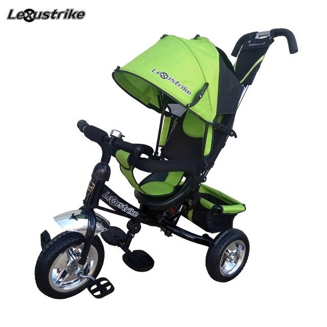 """Велосипед детский 3-х колесный  Lexus trike,  колеса EVA 10и8\"""", регулируемая спинка, задний тормоз, доставка от 2-х дней"""