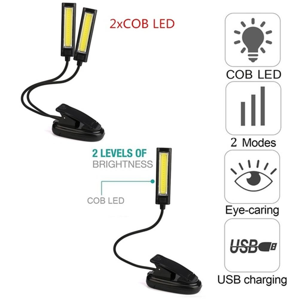 LED reading book lamp light Rechargeable USB Mini Clip-On portable travel Computer light 1/2x COB convenient bedroom book readerLED reading book lamp light Rechargeable USB Mini Clip-On portable travel Computer light 1/2x COB convenient bedroom book reader
