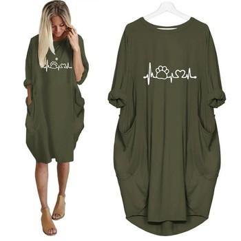 e2ea8c440 2019 nueva moda camisas perro gato corazón impresión Tops Plus tamaño  camiseta divertida ropa Kyliejenner Rock camiseta Mujer plus tamaño